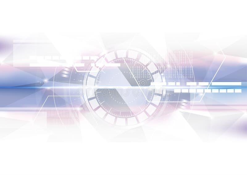 Технологический геометрический красочный интерфейс скеннирования на среднем ab бесплатная иллюстрация
