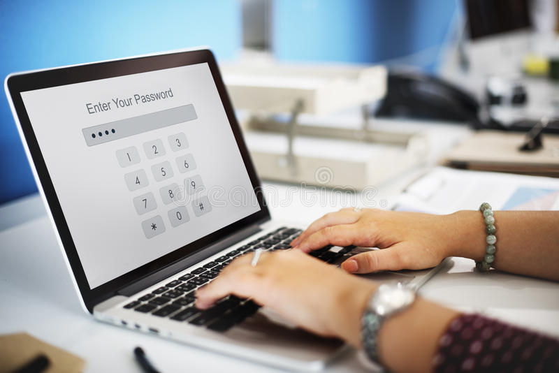 Технология вписывает концепцию графика безопасностью пароля стоковое изображение rf
