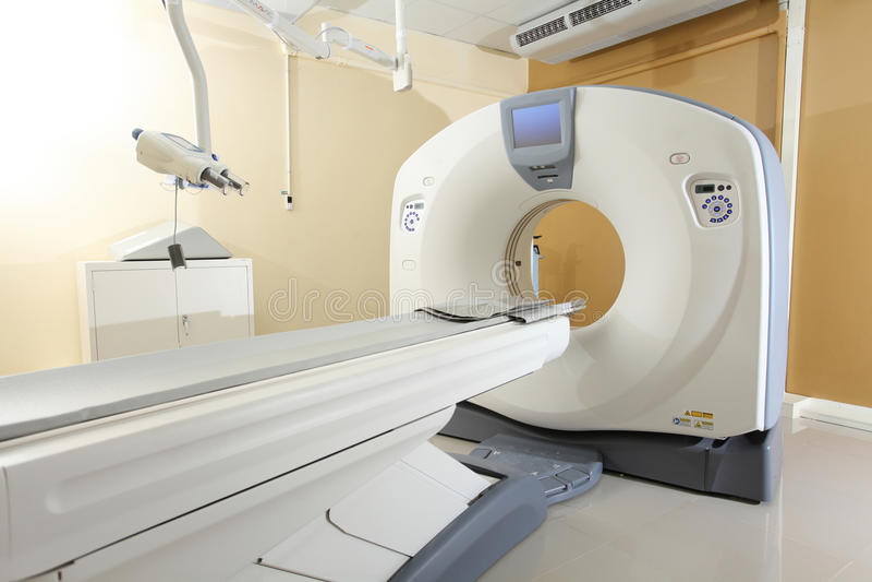 Технология выдвижения развертки CT для медицинского диагноза стоковое изображение