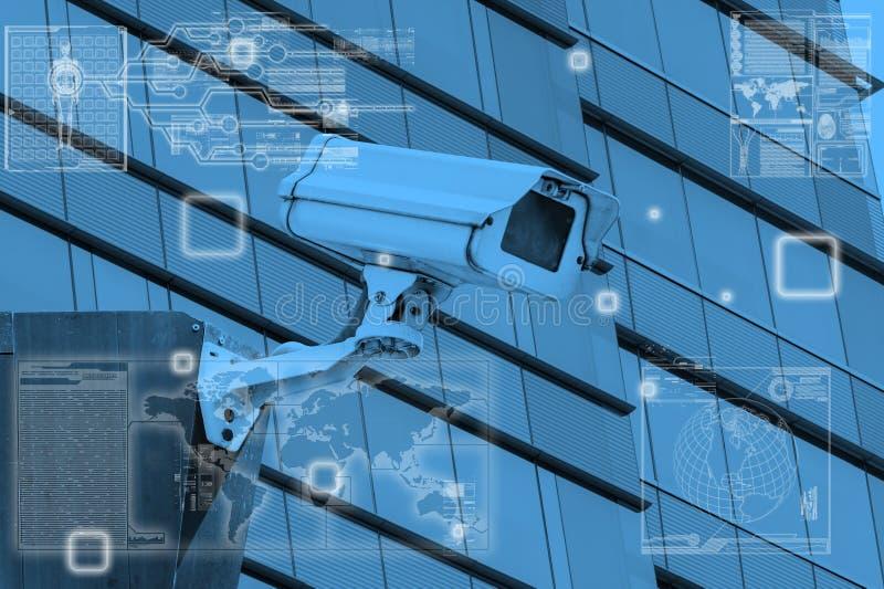 Технология камеры CCTV на экранном дисплее стоковая фотография