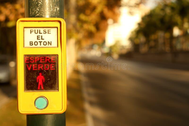 Технология улицы Paseo de los Curas Малаги Испании Andalicia стоковое изображение rf