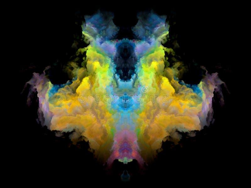 Download Телевизионная испытательная таблица Rorschach цвета Иллюстрация штока - иллюстрации насчитывающей иллюзион, зрение: 81803830