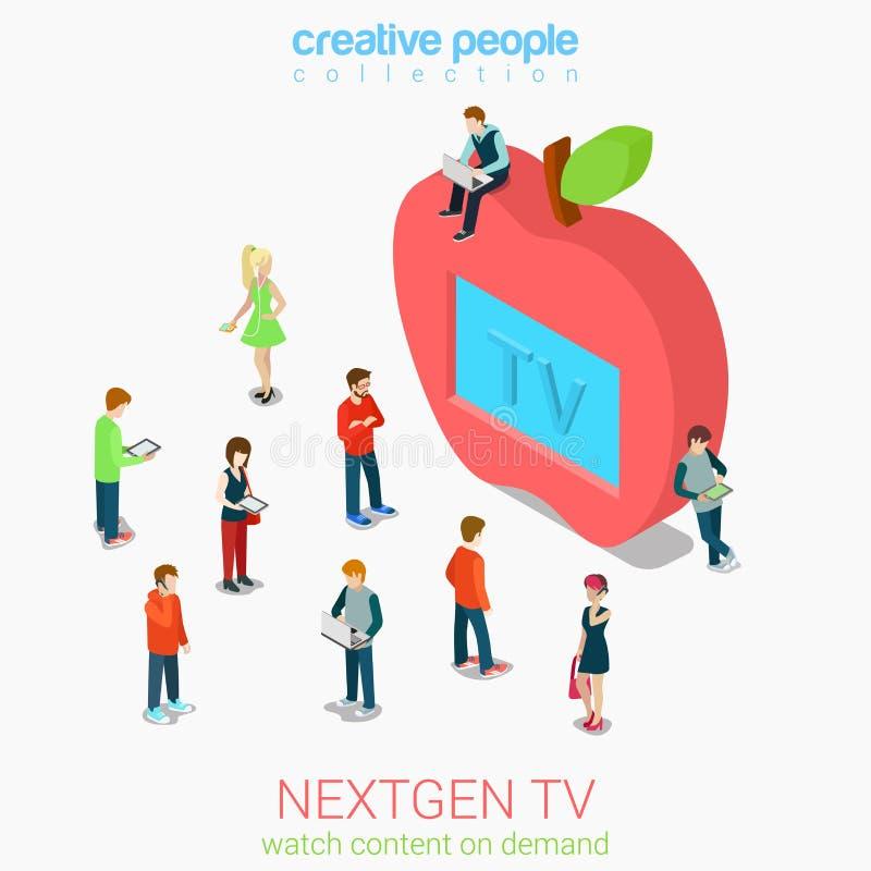Телевидение следующего поколени иллюстрация штока