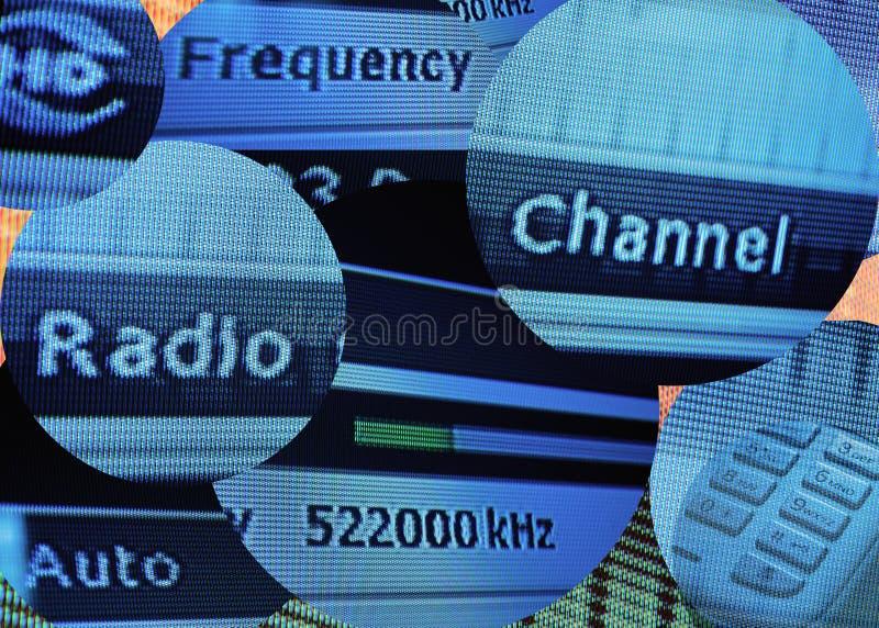 Телевидения высокой четкости во времени iformation стоковое фото rf