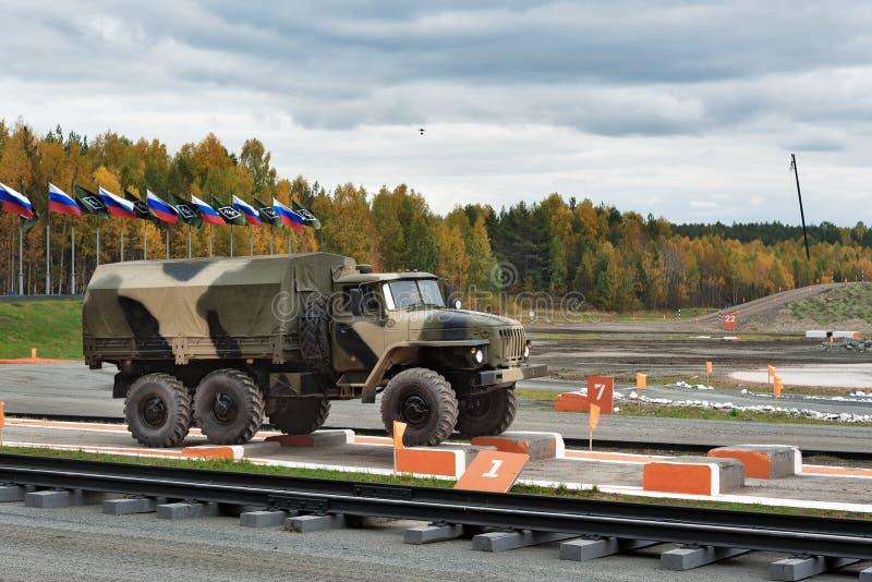 Тележка армии URAL-4320 стоковое фото rf