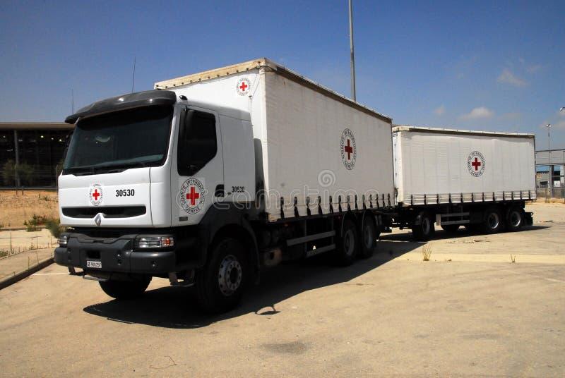 Тележка медицинской поставки Красного Креста стоковое фото