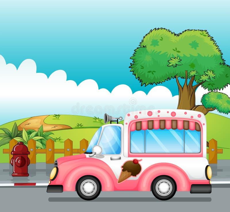 Тележка мороженого бесплатная иллюстрация