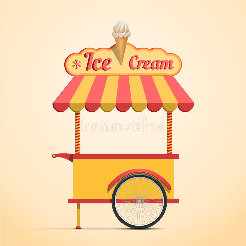 Тележка мороженого иллюстрация штока