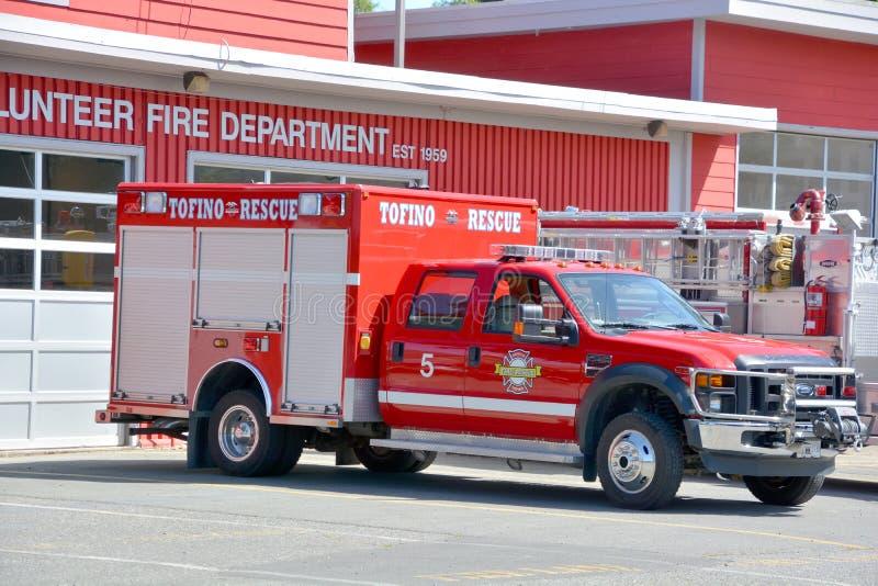 Тележка отделения пожарной охраны волонтера Tofino стоковое изображение rf