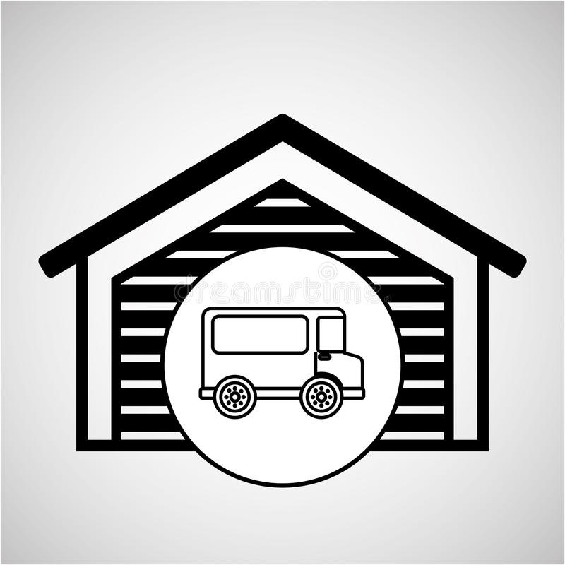 Тележка поставки перехода складского здания бесплатная иллюстрация