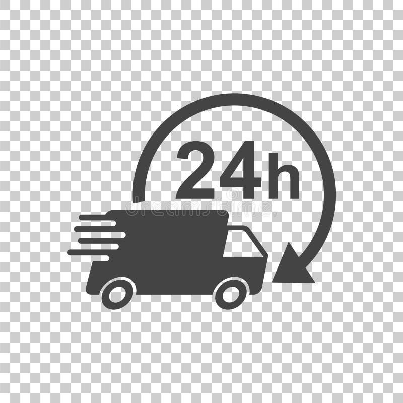 Тележка поставки 24h с иллюстрацией вектора часов 24 часа голодают бесплатная иллюстрация
