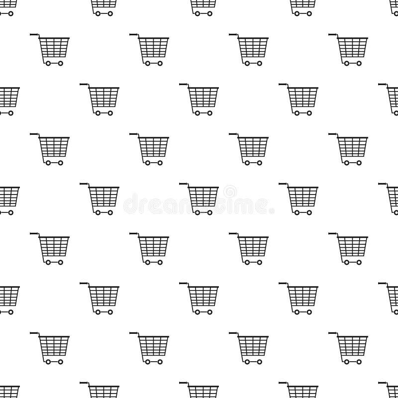 Тележка супермаркета с пластмассой регулирует картину бесплатная иллюстрация