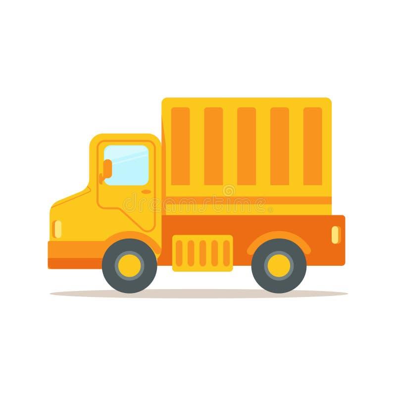 Тележка с грузовым контейнером для грузить и транспорта, красочная иллюстрация вектора шаржа иллюстрация штока