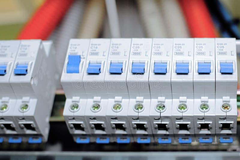Телекоммуникационное оборудование, переключатель главной власти. стоковое изображение rf
