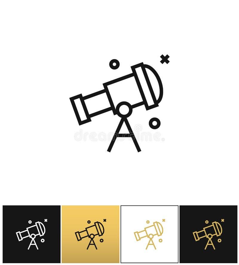 Телескоп или небо астрономии смотря значок вектора иллюстрация вектора