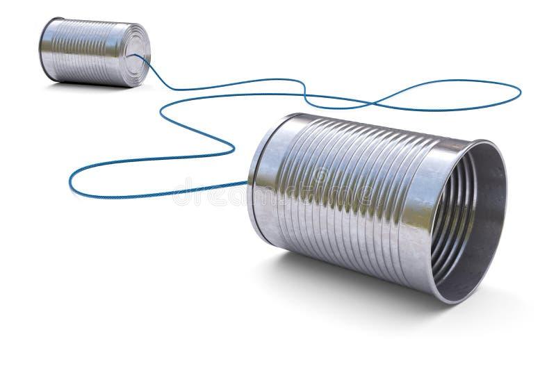Телефон жестяных коробок бесплатная иллюстрация