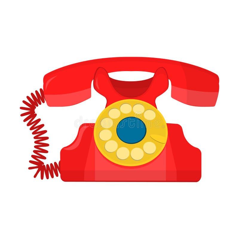 Телефон объекта ретро, старый роторный телефон бесплатная иллюстрация