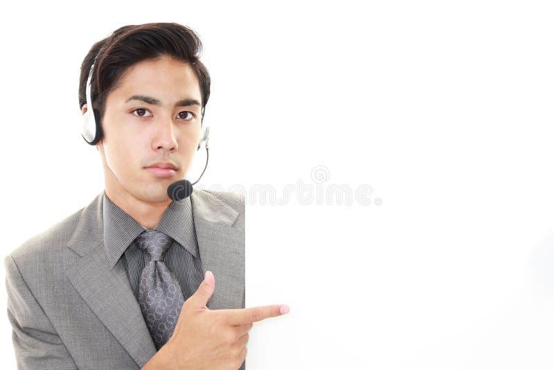 телефон оператора ся стоковое фото