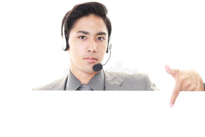 телефон оператора ся стоковое изображение rf