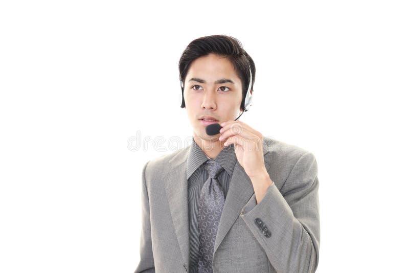 телефон оператора ся стоковые изображения rf