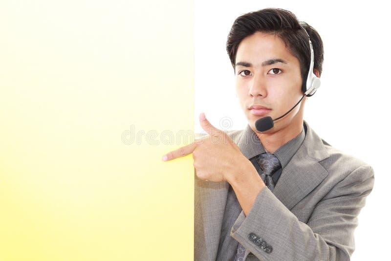 телефон оператора ся стоковое фото rf