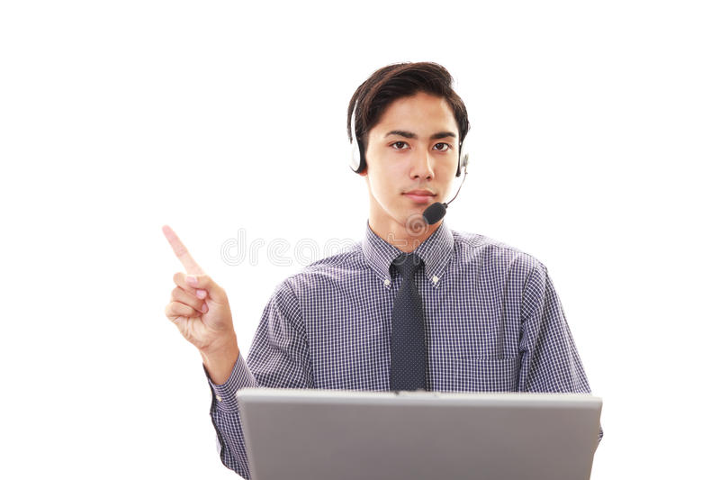телефон оператора ся стоковое изображение