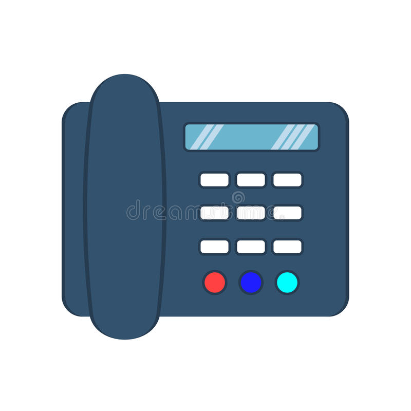 Телефон Телефон назеиной линии икона иллюстрация вектора