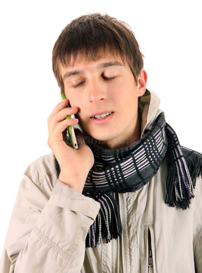 телефон человека клетки эмоциональный стоковые фото