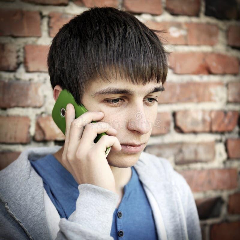 телефон человека клетки эмоциональный стоковая фотография rf