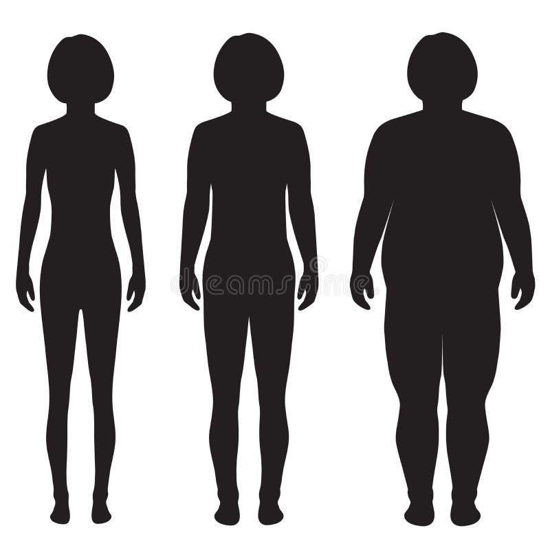 Тело вектора тучное, потеря веса, бесплатная иллюстрация