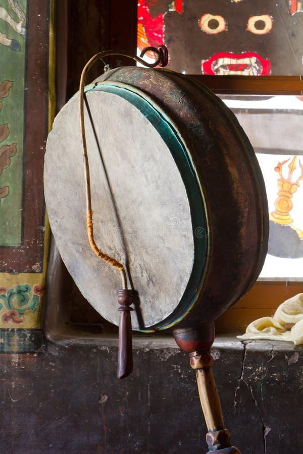 тибетец барабанчика стоковые изображения rf