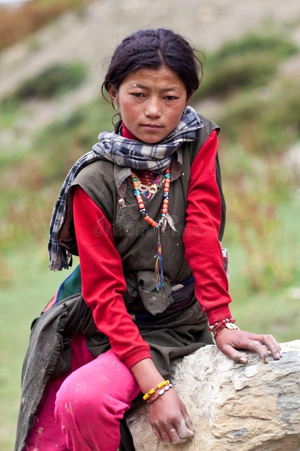 тибетец девушки стоковые фото