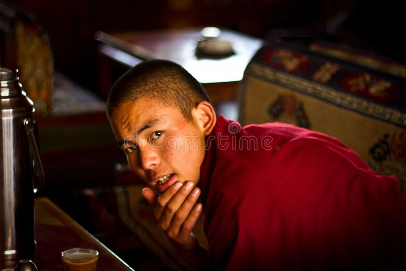 тибетец монаха стоковые фото