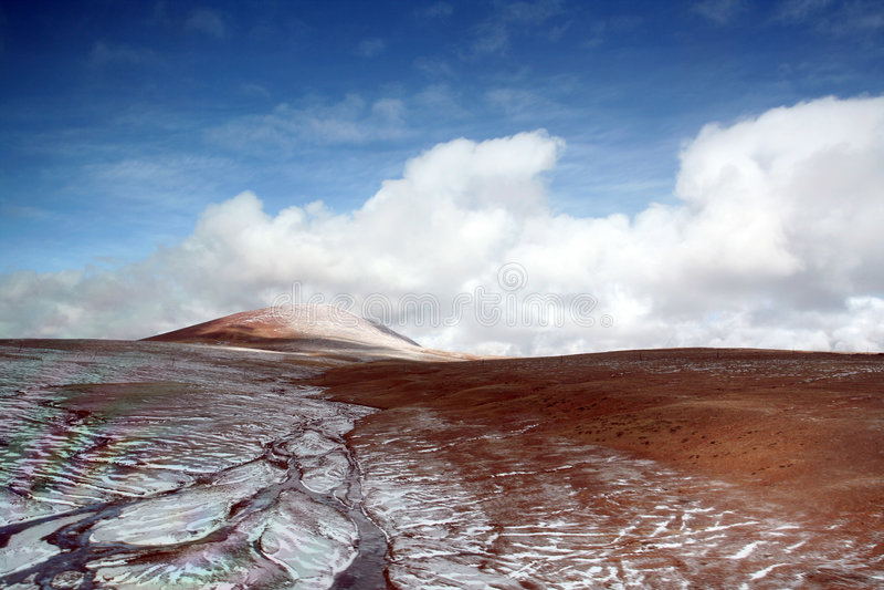 тибетец плато ландшафта стоковые фото