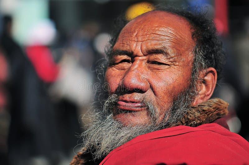 тибетец человека стоковая фотография