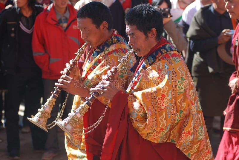 тибетец lama празднества стоковое изображение