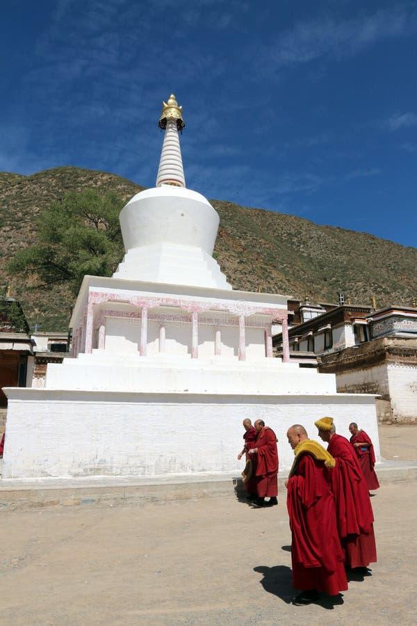Тибетец monastary стоковые фотографии rf
