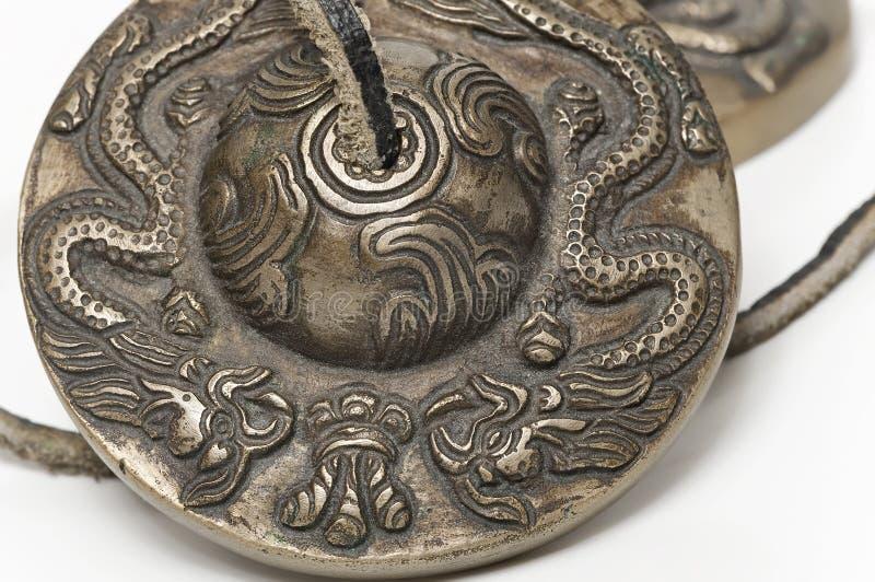 Тибетская буддийская цимбала tingsha стоковые изображения