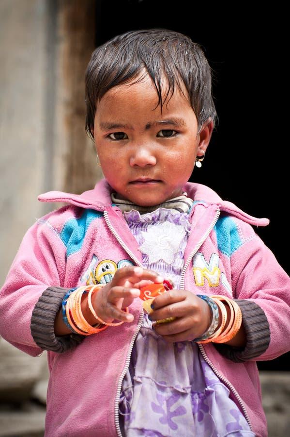 Тибетская маленькая девочка стоковые фото