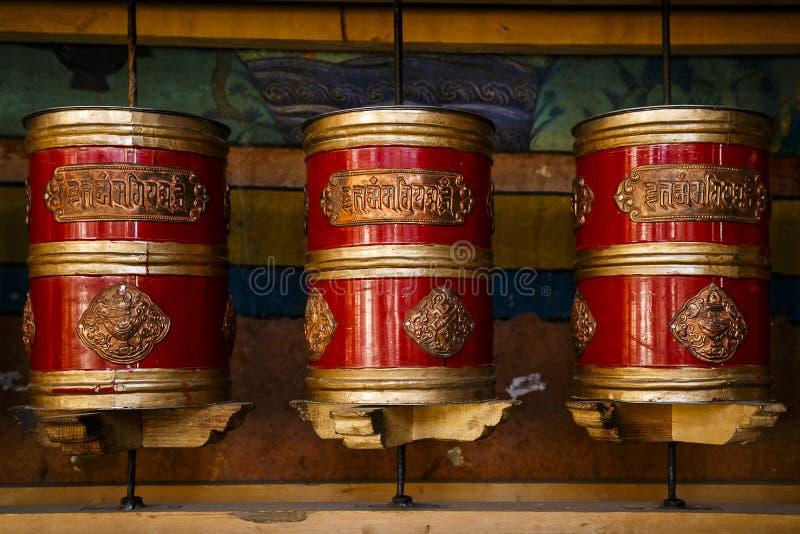 Тибетские колеса молитвам стоковое фото