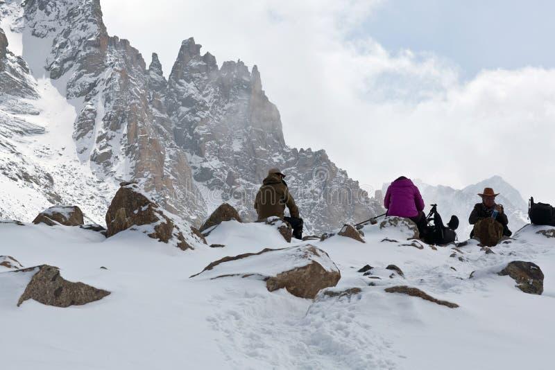 Тибетские паломники стоковые изображения