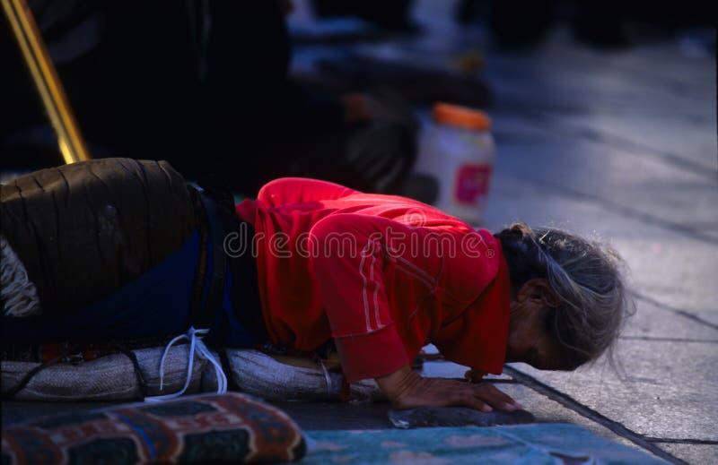 Тибетские пилигримы стоковое фото rf