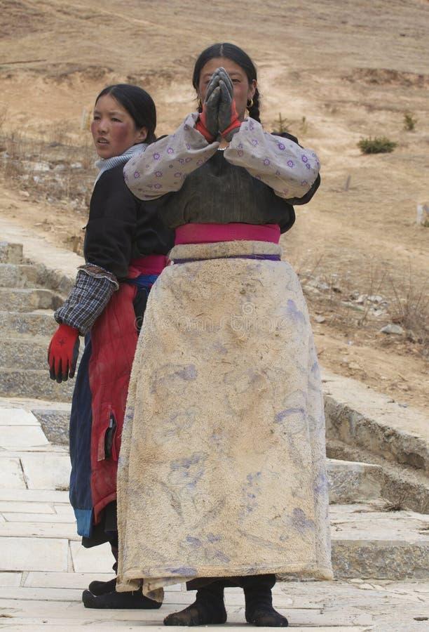 Тибетские пилигримы стоковые фото