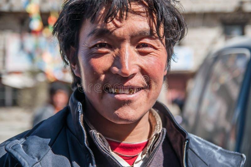 Тибетские люди стоковые фотографии rf