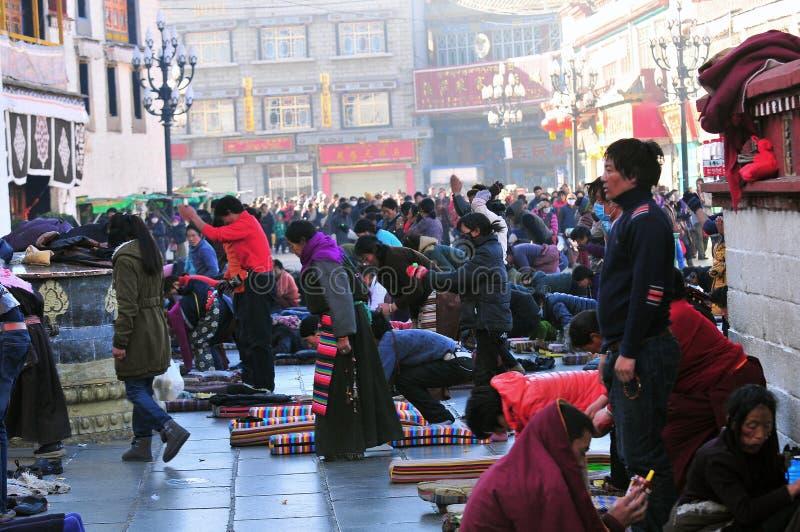 Тибетские люди стоковое фото
