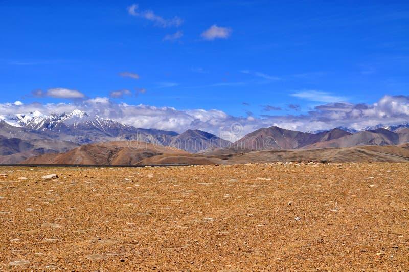Тибетский взгляд Гималаев стоковое изображение