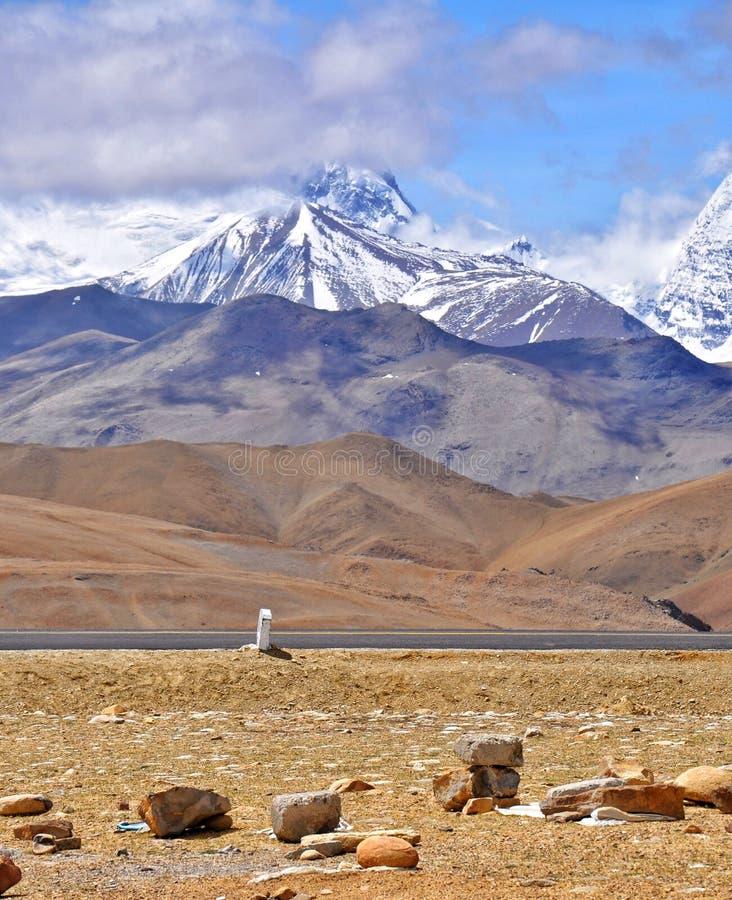 Тибетский взгляд Гималаев стоковая фотография