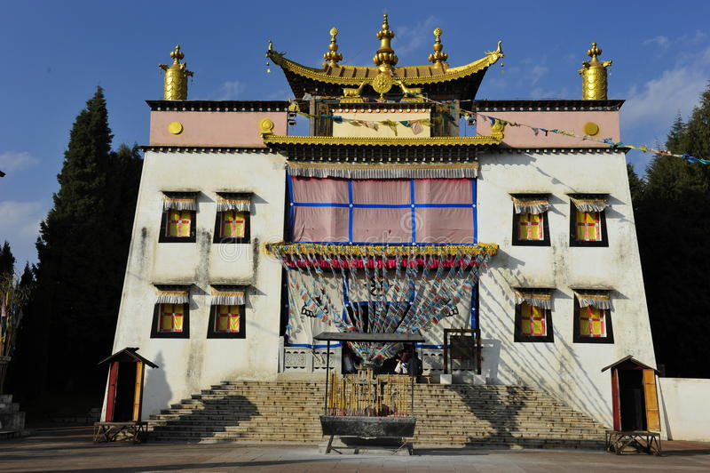 Тибетский висок, Китай стоковые изображения