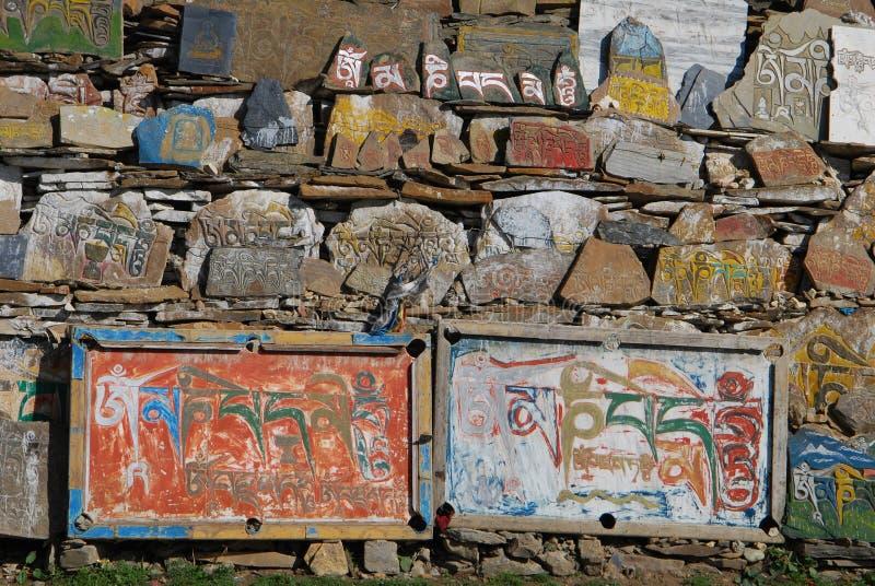 Тибетский камень Mani стоковые фото