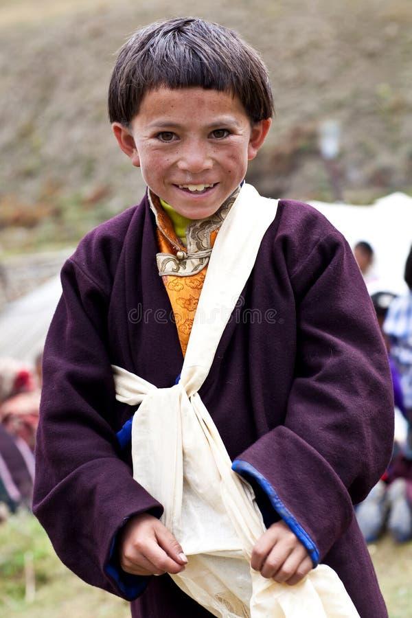 Тибетский мальчик стоковое фото
